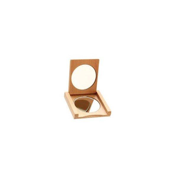 miroir de poche en bois. Black Bedroom Furniture Sets. Home Design Ideas