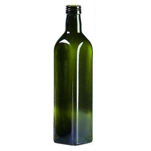 Bouteille carré vert 500 ml PP-31.5 Huile/Vinaigre avec bouchon